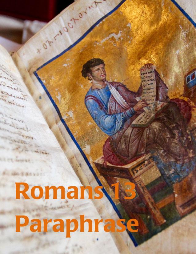 Romans 13 Paraphrase